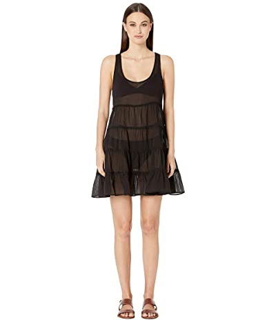 Kate Spade New York Tiered Cover-Up Dress (Black) Women