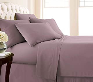 Southshore Fine Living, Inc. Vilano Springs - Premium Collection 6-Piece, 21 Inch Extra-Deep Pocket Sheet Sets, Lavender, Queen