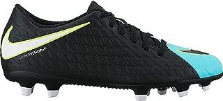 Nike Women's Hypervenom Phade III FG Soccer Cleat Light Aqua/White/Black Size 6.5 M US
