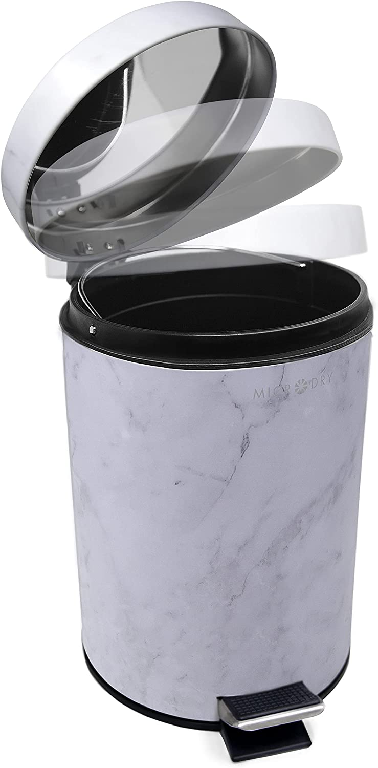 Microdry Charlotte Mall Round Bathroom Step Waste Basket Can Slow Cl with Cash special price Trash