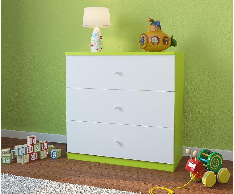 a la venta CocheELLIA cómoda Infantil 3cajones Color verde Lima Lima Lima  de moda