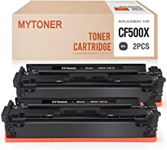 MYTONER Compatible Toner Cartridge Replacement for HP 202X CF500X 202A CF500A Black Toner for Color Laserjet Pro MFP M281fdw M281cdw M254dw M280 M254 M281DW Printer Ink (Black,2-Pack)