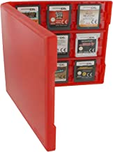 Assecure pro red 18 in 1 game cartridge holder storage system folio style case box for Nintendo 3DS, 2DS & DS game cards