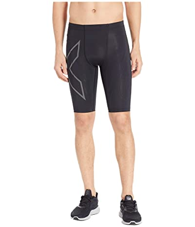2XU MCS Run Compression Shorts (Black/Black Reflective) Men