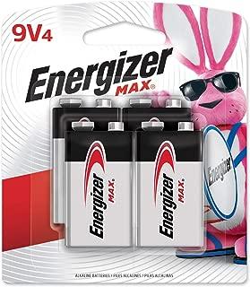 Energizer Max 9-Volt Alkaline Batteries, 4-Count