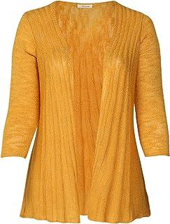 Feinstrick Pullover STRIPES in ockerschwarz