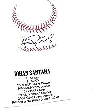 johan santana autograph