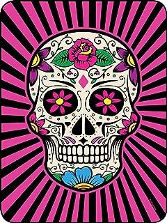 Regal Comfort Pink and Black Sugar Skull Throw Blanket 45