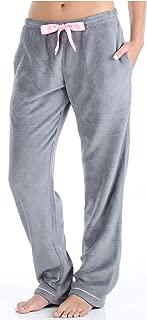 Women's Fleece Pajama PJ Pants with Pockets