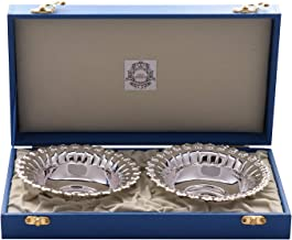 MSA JEWELS Pure 92.5 Sterling Silver Precious Metal Purity Certified by BIS Hallmark Dish Bowl Set (12.5 cm, 132 g)