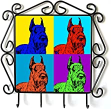 Schnauzer Cropped, Clothes Hanger with an Image of a Dog, Andy Warhol Style