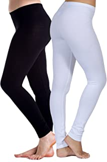 In Touch 2 Pack Womens Cotton Spandex Leggings