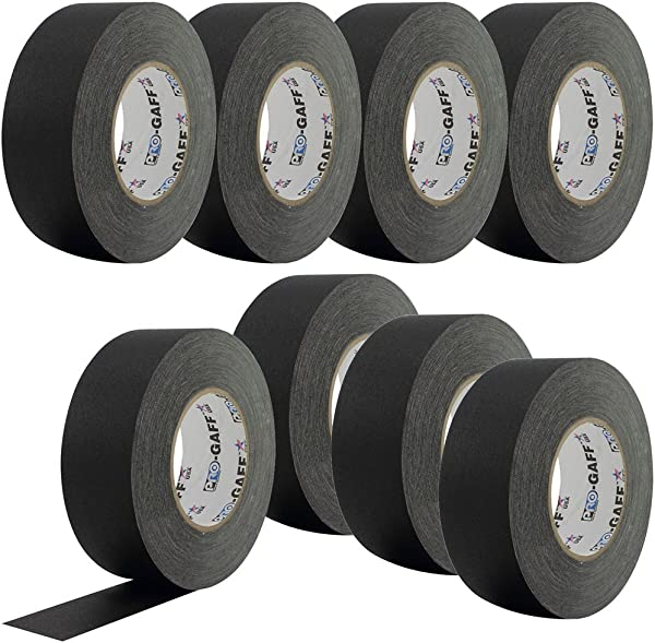PRO Black Gaffers Stage Tape 2 Inch 55 Yd 8 Pack