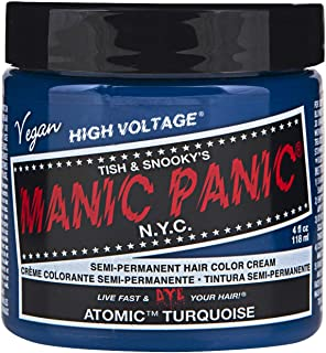 Manic Panic Semi-Permament Haircolor Atomic Turquoise 4 Ounce (118ml) (6 Pack)