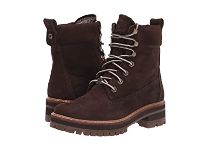 Timberland Courmayeur Valley 6 Boot (Dark Brown Nubuck) Women