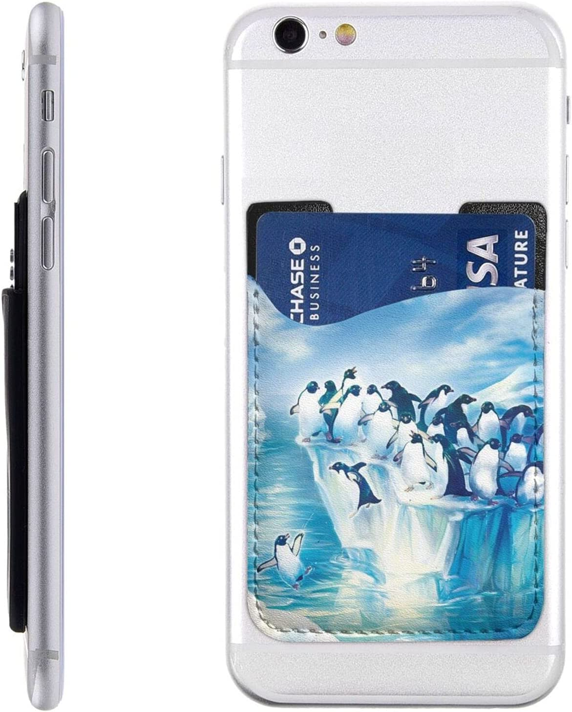 Penguins On Iceberg Phone Card Stick W Holder Cell Large discharge Clearance SALE! Limited time! sale