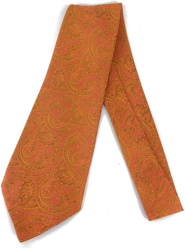 Paisley Swirl Vintage Tie - Jacquard Weave Wide Kipper