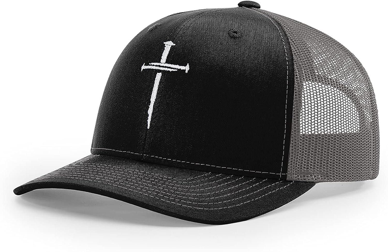 Nail Cross Jesus Christ Christian Embroidered Richardson 112 Trucker Cap Hat