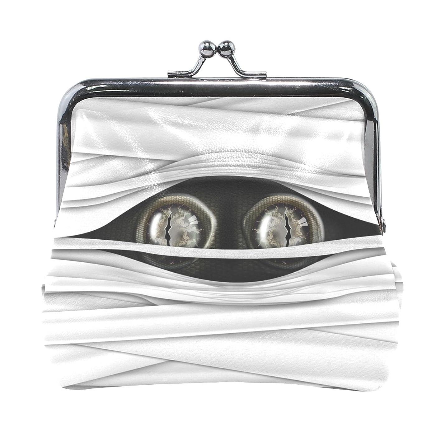 抽選うるさい流AOMOKI 財布 小銭入れ ガマ口 コインケース レディース メンズ レザー 目玉 きれい お化け