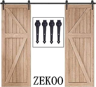 ZEKOO リフォーム 建具 両引戸 ドアレール 木門吊り 金物 12 FT (3.66メートル) 両引戸用