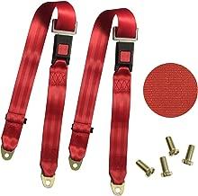 2 Point Adjustable Seat Safety Belt Harness Kit Single Double Seat Lap Seatbelt Universal For Go Kart UTV Buggie Club Vehicle Truck Red