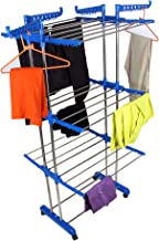 VIMART Made in India Pure Stainless Steel Heavy Duty - Foldable 3 LEYARS Cloth Dryer Stand
