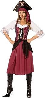 Morris Costumes Womens Burgundy Pirate Wench (Medium)