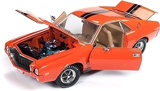 1969 AMC AMX Hardtop Big Bad Orange w/Black Stripes Hemmings Muscle Machines Ltd Ed 1,002 pcs 1/18 Diecast Model Car by Autoworld AMM1170