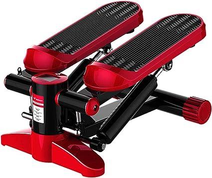 Oben unten Stepper mit Multifunktion Anzeige,Rot mit Seil ziehen /Übung Trainieren Ausbildung Fitness Fu/ß Stepper LJYLF Sehr leise Zuhause Mini Hydraulisch Stepper