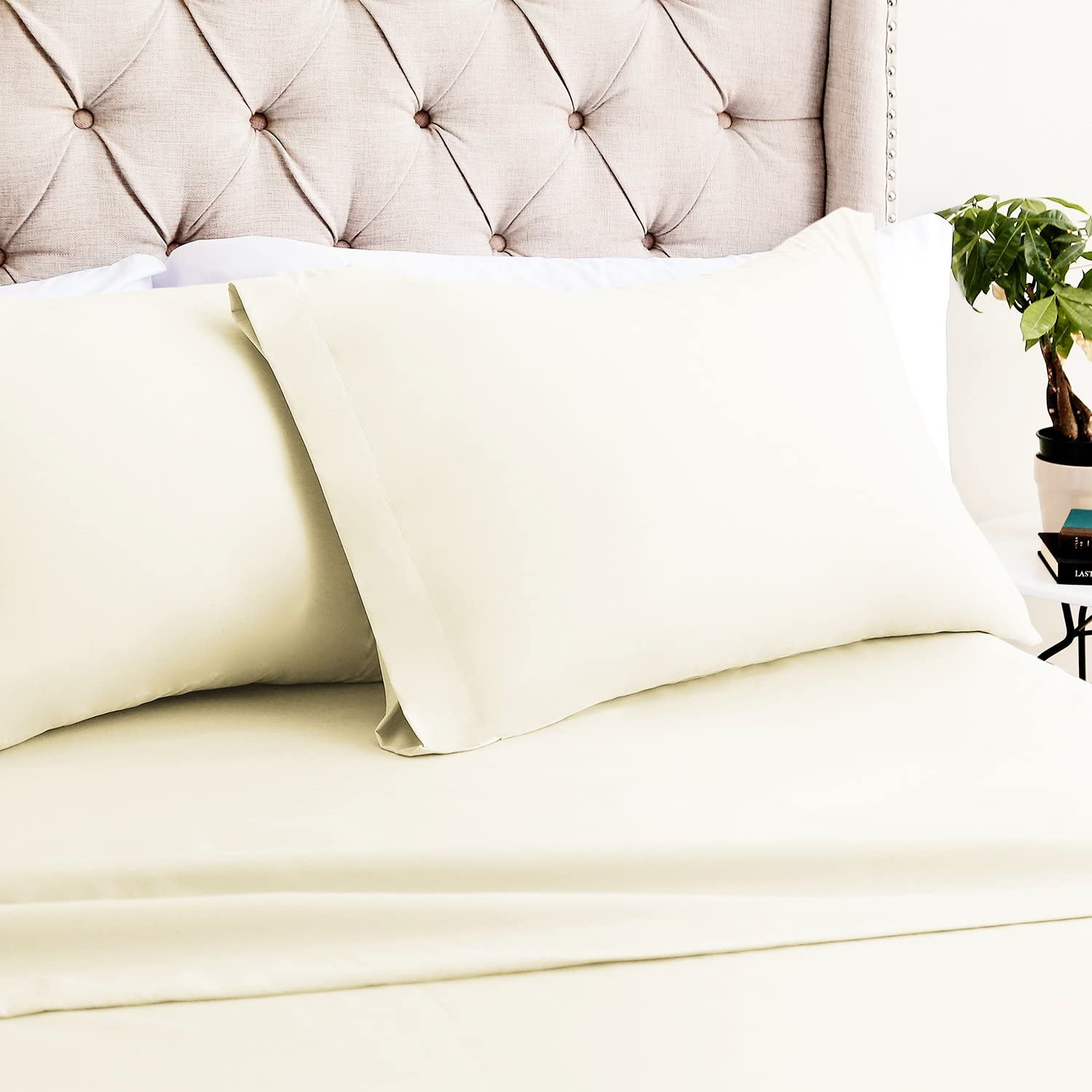 Luxor Linens Bamboo New Free Sacramento Mall Shipping Queen Sheets - 1 2 4pc Pillowcases Fit Set
