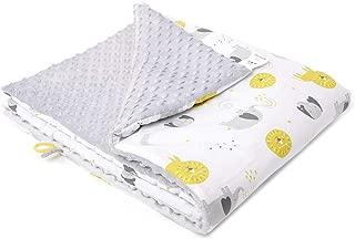 Manta Bebe Recien Nacido/Manta Borreguillo Para Cuna de Bebes/Suave Minky y 100% Algodon Certificado OEKO-TEX/Baby Animals 75x100cm