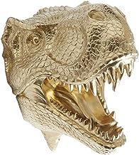 Near and Deer Faux Taxidermy T-Rex Dinosaur Head Wall Mount, Gold