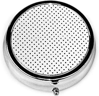 黒丸ドット ピルケース 薬ケース 習慣薬箱 薬入れ オシャレ 3仕切り個別保管 防水 携帯用 軽量 小型収納ケース