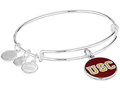Alex and Ani Color Infusion University of Southern California Logo II Bangle (Shiny Silver) Bracelet