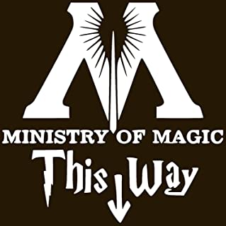 Premium Quality Black Vinyl 7.5-Inches By 6.4-Inches DD084 Ministry Of Magic This Way Harry Potter Inspired Decal Sticker