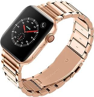 Fullmosa LUS ステンレス apple watch バンド ベルト 44mm 42mm 40mm 38mm コンパチ アップルウォッチ 5 4 3 2 1 バンド 交換用 鋼製 ビジネス appleウォッチバンド レディース メンズ (40mm, ゴールド)