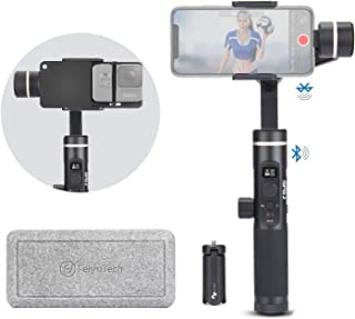 FeiyuTech Feiyu SPG 2 with Plate Kit, Splash-Proof 3 Axis Handheld Gimbal Stabilizer, Face Object Tracking, Time-Lapse &Slow Motion Phone Gimbal for iPhone Huawei Samsung LG Xiaomi, GoPro Hero 7 6 5