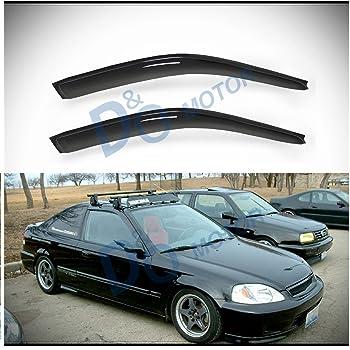 Auto Ventshade 94241 Original Ventvisor Side Window Deflector Dark Smoke 4-Piece Set for 1996-2000 Honda Civic