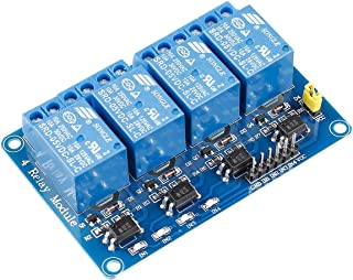 SunFounder Lab Modulo 4 Relè 5V 4 Channels Relay Module for Arduino R3 2560 1280 ARM PIC AVR STM32