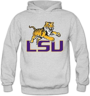 LSU Tiger Womens 50% Cotton Hoodies Sweatshirt White