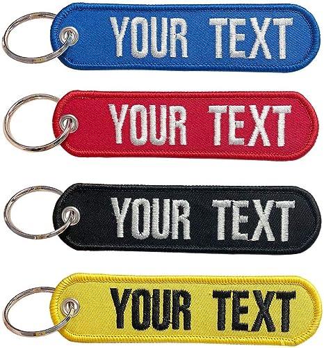 Brillianne Porte-clés personnalisé Porte-clés personnalisé pour Motos Voitures Scooters et Cadeaux Porte-clés de Brod...
