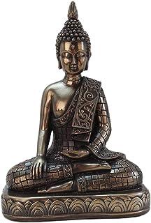 #N/A Meditating Thai Buddha Statues Ornament Figurine, Garden Buddha Statue Sculpture Indoor/Outdoor Decor for Home,Garden...