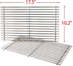 SHINESTAR New Version Stainless Steel Grill Grates for Weber Spirit E210 & S210 Gas Grills, 17.5-inch Cooking Grids Replacement Parts, 17.5-inch x 10.2-inch Each-Set of 2