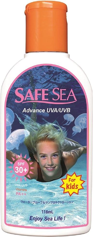 議題足シンプルなSAFESEA 日焼け止め アドバンス キッズ ウォータープルーフ UVA UVB SPF30 118ml