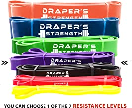 Draper's Strength Heavy Duty Pull Up Assist and Powerlifting Stretch Bands Add Resistance for Stretching, Exercise, and Assisted Pull Ups. Free E-Workout Guide (Single Band or Set) 41-Inch