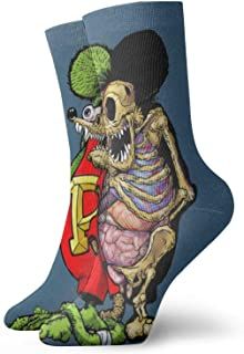 Yuanmeiju calcetines de punto Soft And Breathable Socks Rat Fink Unisex ty Polyester Breathable Socks