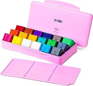 MIYA HIMI Gouache Paint Set 18 Colors (30ml/Pc) Paint Set Unique Jelly Cup Design Non Toxic Paints for Artist, Hobby Paint...