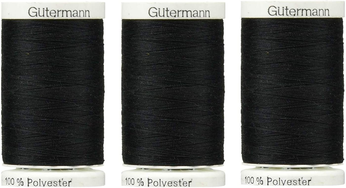 Sew-All All PurposeThread 547 Yards 1 Black and 1 White GUTERMANN Thread