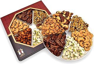 Holiday Gift Nut Tray Basket, Roasted Nut Variety Fresh Assortment Tray, Gourmet Food