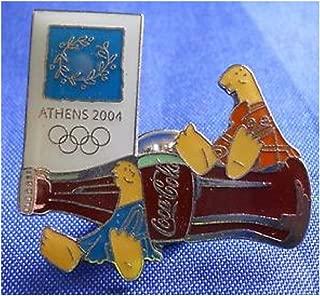 Athens 2004 Mascots w/ Coca Cola Bottle Pin